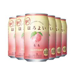 和乐怡(HOROYOI) 三得利 日本进口 预调酒 鸡尾酒 果酒 白桃口味350ml*6罐