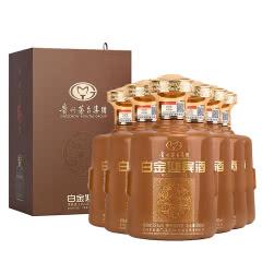 53°茅台集团白金酒白金迎宾(商务酱酒)酱香型白酒送礼盒整箱装500ml*6(土豪金)