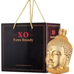 40°法国进口(原酒进口)佐罗骑士XO白兰地金佛艺术瓶750ml (洋酒礼盒)