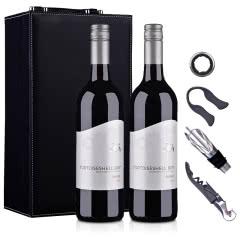 澳大利亚原瓶进口红酒小海龟西拉红葡萄酒750ml*2(双支礼盒装)