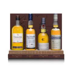 40°苏格兰单一麦芽威士忌四大产区组合套装200ml*4