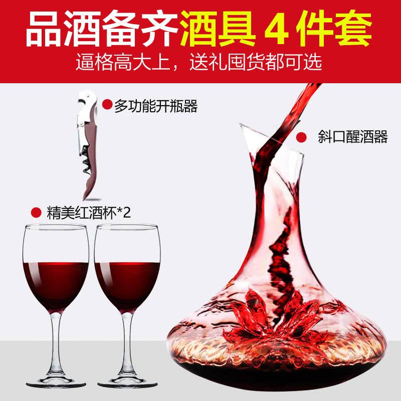 精美酒具4件套(斜口醒酒器1个  精美红酒杯2个   多功能开瓶器1个) )