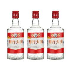 【3瓶组合】52度绵竹大曲红标高度浓香型白酒泡药酒500ml