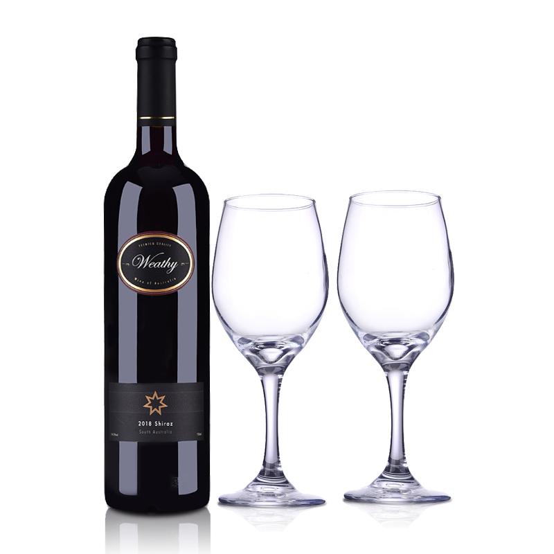 澳大利亚钰富干红葡萄酒750ml +双支酒杯
