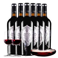 法国进口红酒拉斐天使酒园干红葡萄酒红酒整箱 醒酒器装750ml*6