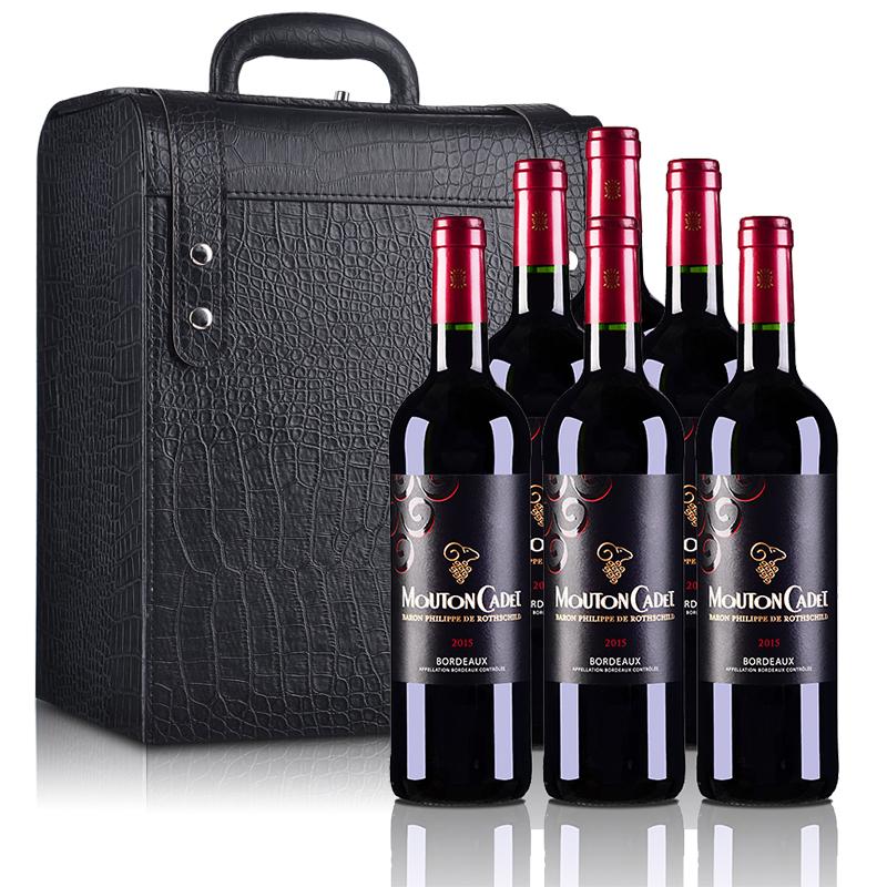 法国红酒罗斯柴尔德木桐嘉棣(又名木桐嘉隶)红葡萄酒750ml*6(六支装红酒礼盒)