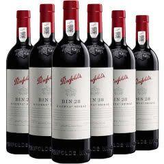 澳大利亚原瓶进口红酒奔富BIN28设拉子红葡萄酒 750ml*6