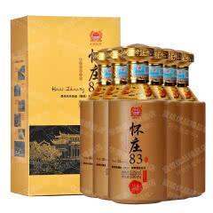 53°贵州茅台镇怀庄83盛世佳酿酱香型白酒送礼收藏自饮口粮酒500ml*6【整箱】