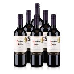 智利干露红魔鬼梅洛红葡萄酒750ml(6瓶装)