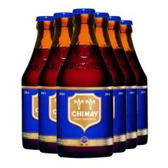 比利时进口智美蓝帽修道院黑啤酒(Chimay)330ml*6