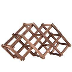 6支装木质折叠酒架