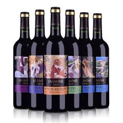 法国整箱装茉莉花6大产区AOP干红葡萄酒750ml*6