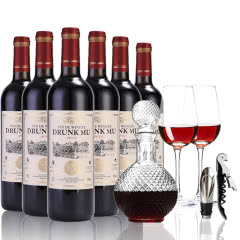 法国原酒进口醉慕甜红酒甜型干红葡萄酒6瓶整箱套装 750ml*6