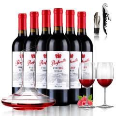 澳洲原瓶原装进口红酒奔富尼澳FIH389 设拉子干红葡萄酒750ml*6 6瓶整箱装