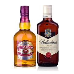 英国进口Chivas/芝华士威士忌500ml+百龄坛威士忌500ml洋酒