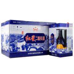 52°红星二锅头珍品蓝花500ml(6瓶装)白酒整箱