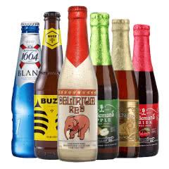精酿啤酒福佳1664粉象林德曼6瓶组合