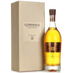 43°格兰杰(Glenmorangie)18年高地单一麦芽苏格兰威士忌 700ml