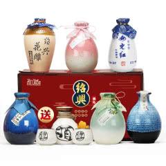 【送酒具】女儿红领衔绍兴黄酒六瓶不同风味组合礼盒花雕酒桃花醉青梅酒