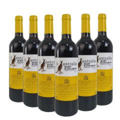 澳洲原酒进口红酒澳奔袋鼠尊贵黄赤霞珠干红葡萄酒红酒整箱750ml*6
