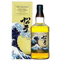 日本原装进口洋酒 THE MATSUI 松井单一麦芽泥煤味威士忌700ml