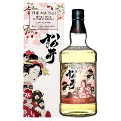 日本原装进口洋酒 THE MATSUI 松井单一麦芽樱花味威士忌700ml