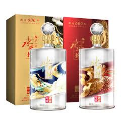 53°水井坊 井台珍藏 龙凤组合 套装 浓香型 1L*2 瓶 白酒