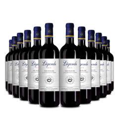 【到手12支】法国原瓶进口红酒 波尔多产区 AOP级 法龙图传奇干红葡萄酒750ml*12