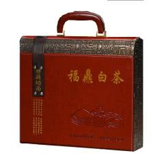 福鼎老白茶饼 老白茶寿眉特级白茶 过节送礼礼盒 皮质礼盒 350g