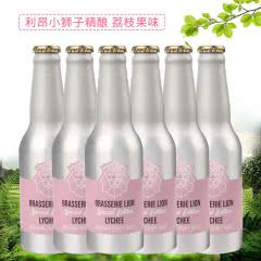 比利时原瓶进口 LION利昂小狮子荔枝精酿啤酒 铝罐装 330ml*6瓶