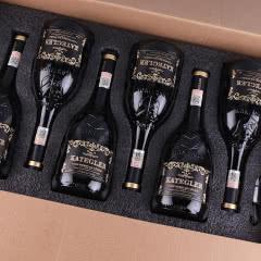 【红酒礼盒】法国进口红酒15度老藤珍酿AOP级浮雕手握瓶干红葡萄酒 整箱750ml*6瓶
