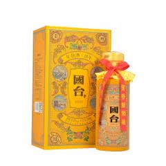 53°贵州国台酒业公司 国台年份酒(10年/十年)帝王黄 酱香型白酒500ml