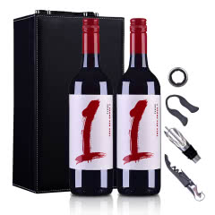 澳大利亚沙普酒庄1号西拉干红葡萄酒750ml*2(双支皮盒套装)