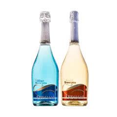 【包邮】西班牙爱之湾(谜蓝+晶白)莫斯卡托低醇甜起泡葡萄酒750ml