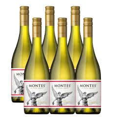 智利进口蒙特斯经典系列霞多丽红葡萄酒750ML*6支装