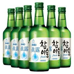 17.2度真露竹炭酒原味360ml(6瓶)