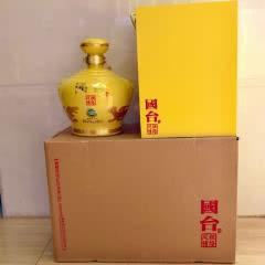 53°国台 丝路风情(2016年出厂)帝王黄3斤坛装  1.5L酱香型白酒