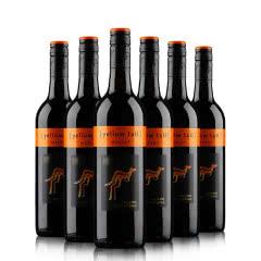 澳洲黄尾袋鼠梅洛红葡萄酒 13.5%vol750ml 整箱六瓶