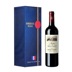 法国波尔多右岸名庄酒 大梅诺城堡副牌 AOC级 菲莉亚干红葡萄酒750ml 2015年