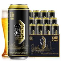 雪花(SNOW)啤酒经典12度500mL*12听整箱批发高度啤酒