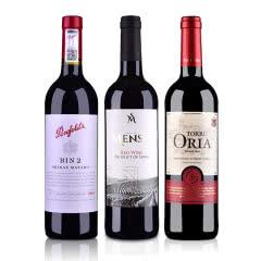 澳大利亚奔富BIN2西拉玛塔罗干红葡萄酒750ml+西班牙欧瑞安门萨古藤干红葡萄酒750ml+西班牙欧瑞安红标DO级干红葡萄酒750ml