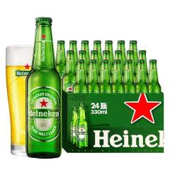 喜力Heineken啤酒整箱330mLx24瓶11.4度拉格啤酒雪花啤酒出品