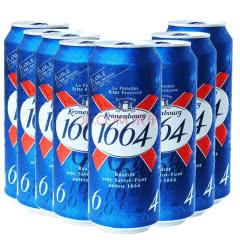 法国原装进口1664黄啤酒精酿小麦果味克伦堡凯旋500ml 24罐整箱