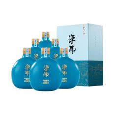 52°孔府家 学而 2008年基酒酿造 浓香型白酒500ml*6瓶  整箱装(含礼品袋3个
