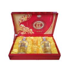 2013年老酒 贵州茅台集团52度京玉一帆风顺酒双支礼盒500ml*2浓香型白酒