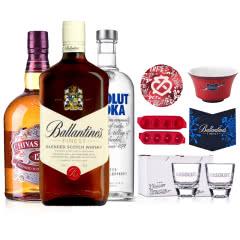1L(芝华士威士忌+百龄坛威士忌+绝对伏特加)