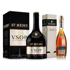 人头马CLUB香槟区优质干邑350ml+40°法国圣雷米(ST-REMY)VSOP白兰地700ml