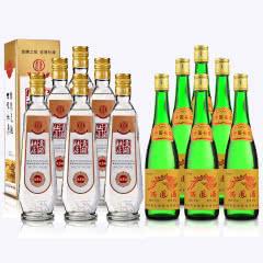 55°西凤酒西凤绿瓶500ml(绿瓶)*6+52°杜康贡酒(优质5)500ml*6