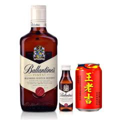 【包邮】40°英国百龄坛特醇苏格兰威士忌500ml+王老吉+百龄坛50ml