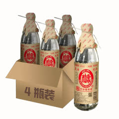 白水杜康复古纪念酒500mlx4瓶浓香型白酒